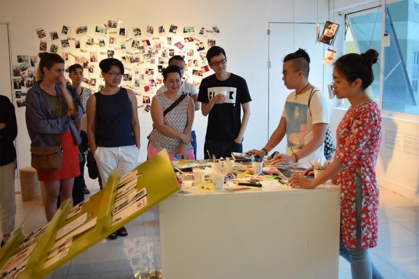 artist talk about zine making process