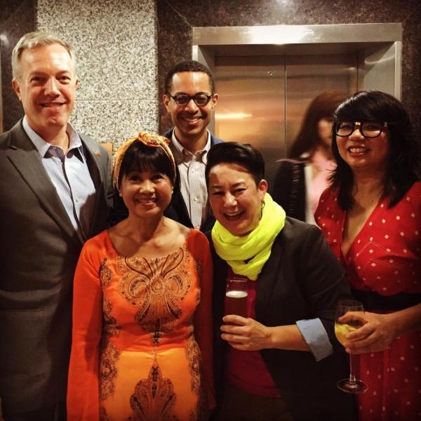 Ted Osius, Marguerite Ngoc O'Brien, Clayton Bond, Erin O'Brien, Linh Phan