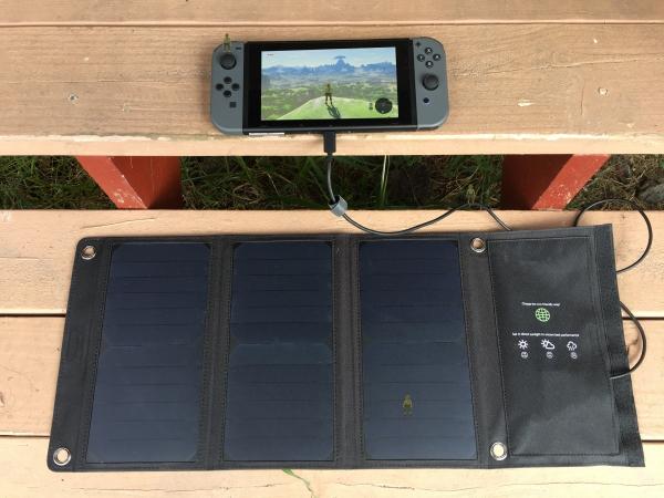 Solar Powered Nintendo Switch