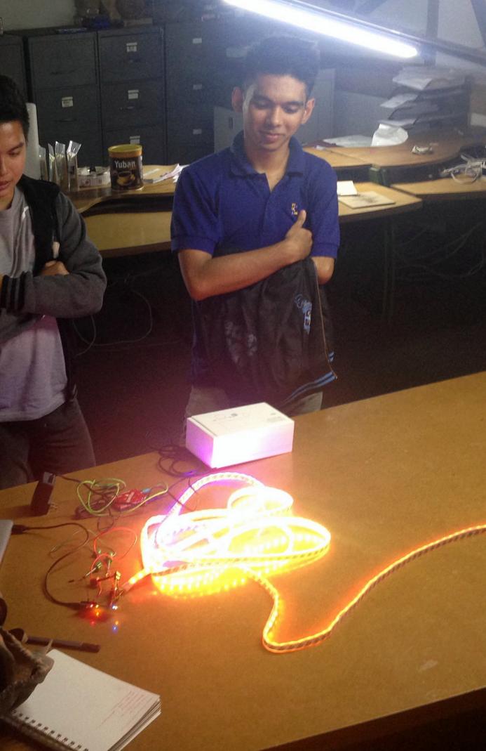 Testing sensors and RGB addressable strips