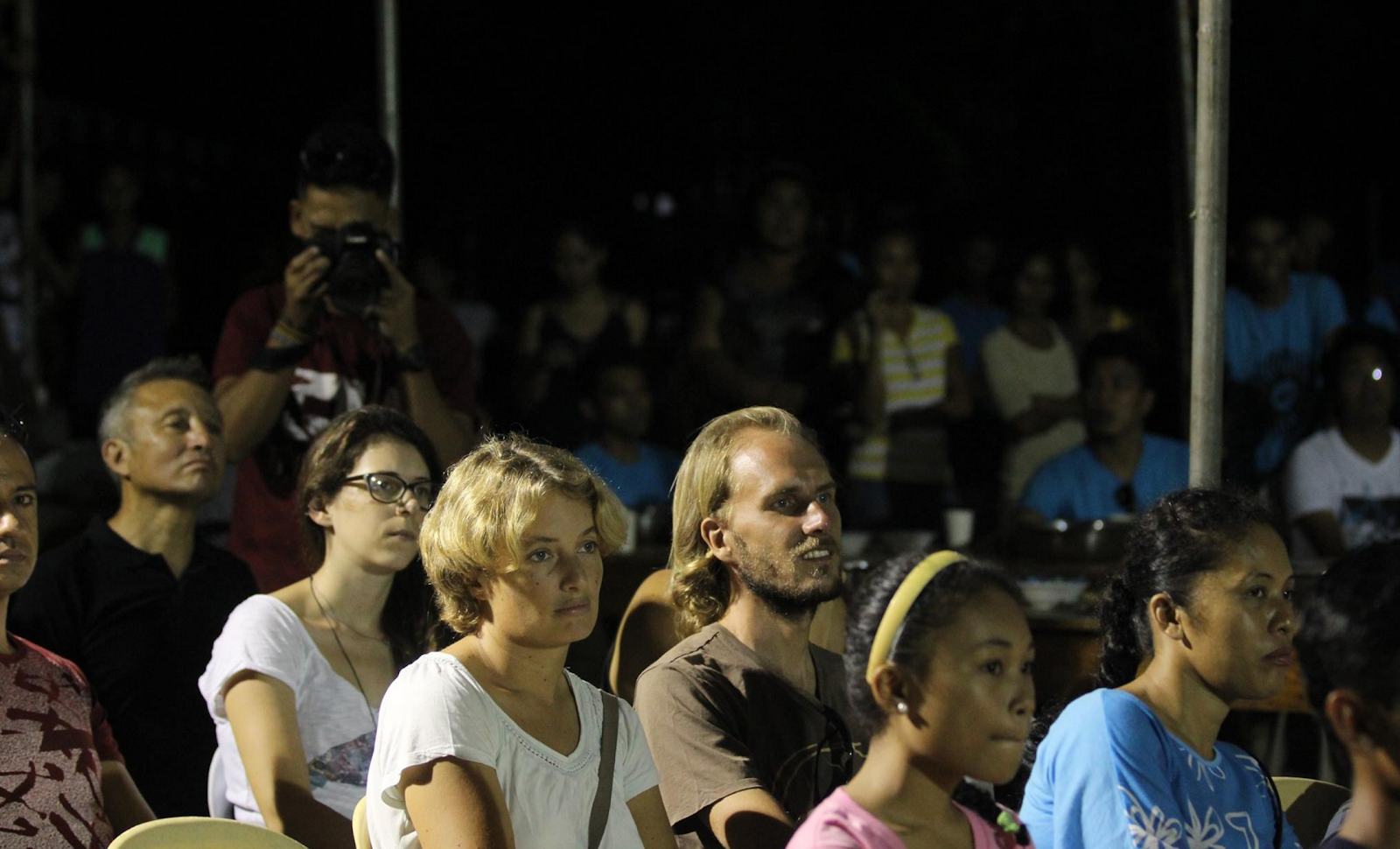 Audience watching