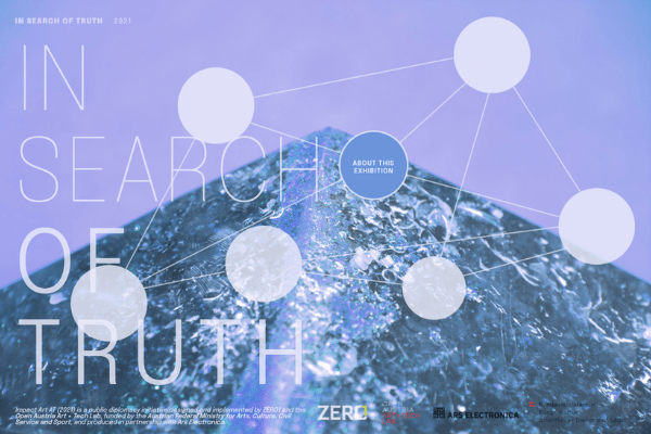 Screenshot of the In Search of Truth virtual exhibition homepage.