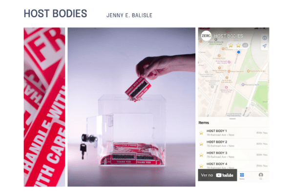 """Screenshot of Jenny E. Balisle's """"HOST BODIES"""" page on the In Search of Truth virtual exhibition site."""